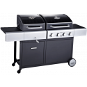 Outback Dual Fuel 4 (2020 model) Burner Combi Charcoal/Gas BBQ (OUT370706)