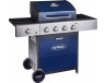 Outback Meteor 4 Burner Gas BBQ Blue Hooded (370699)