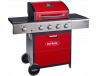Outback Meteor 4 Burner Gas BBQ Red Hooded (OUT370698)